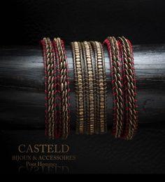 Pas de superflu, un état d'esprit, une attitude... Bracelets Hommes wrap de CASTELD. #bracelet #homme #bijouxhomme #madeinFrance #créateur #tendance http://www.casteld.com/bijoux-homme