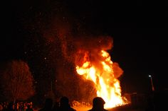 Sumedru's fire! Somewhere in Arges, Romania! An custom old of 2000 years!