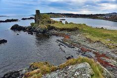 Dunyvaig Castle and Lagavulin Bay, Isle of Islay