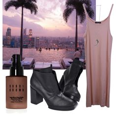 Somewhere I'd Like to be by emmamcknight on Polyvore featuring Bassike, Pamela Love, Bobbi Brown Cosmetics and Cheap Monday