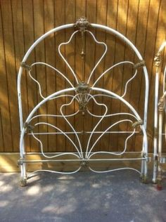 Ornate-Full-Size-Heavy-Cast-Iron-Bed-with-Brass-Trim-6436A