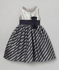 Take a look at this Navy & Gray Clara Dress - Toddler & Girls by Dorissa on #zulily today!