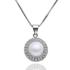 """Kimberly """"Bright"""" Pearl Pendant Necklace"""