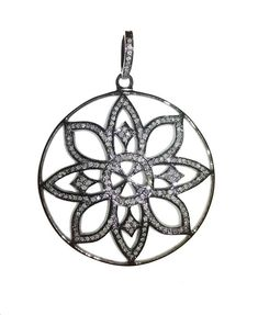 Check out this item in my Etsy shop https://www.etsy.com/in-en/listing/534810377/flower-pave-diamond-pendent