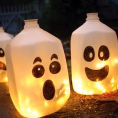 Very cute cheap idea for Halloween..even a fun craft to do with kids!