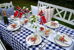 17. mai Independence Day, Table Settings, Table Decorations, Interior Design, Furniture, Home Decor, Nest Design, Diwali, Decoration Home