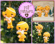 PDF. Gingerbread man and girl pdf Pattern Pattern by Noialand, $5.00