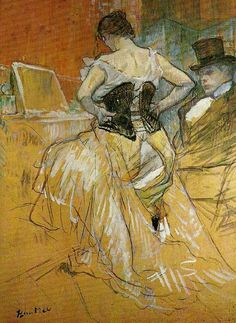 """""""Learning to love your Venus Fold"""" From a painting by Toulouse Lautrec, showing that even the stars of the Moulin Rouge had back cleavage."""