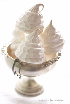 French Meringues - they remind me of Marie Antoinettes hair!