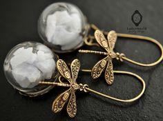 """""""Le cristal de roche"""" Boucles d'oreilles  de Ladysworld sur DaWanda.com"""