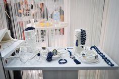 White and lapis blue #confuortogioielli #creativedeco #homimilano