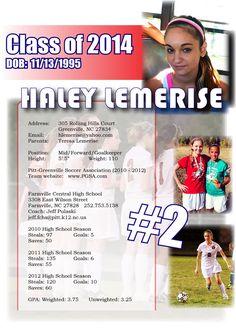 soccer resume for college