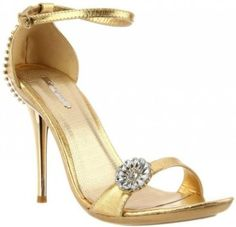 £32.00  Shoehorne Ocean-01 - Womens Stunning Gold Rhinestone/Diamante Flower Toe Strap High Heels Evening Sandals w/ jewelled encrusted heel - Avail in Ladies Shoe Size 3-8 UK: Amazon.co.uk: Shoes & Accessories