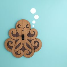 Octopus switch plate for a boys nautical themed room