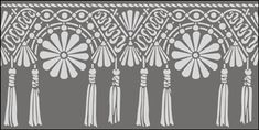 Ottoman Macrame Border stencils, stensils and stencles