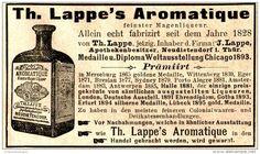 Original-Werbung/ Anzeige 1897 - TH.LAPPE'S AROMATIQUE MAGENLIQUEUR / APOTHEKER LAPPE -…