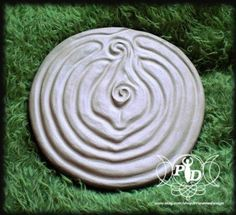 Yoni Labyrinth, Vulva Labyrinth, Beautiful Goddess Labyrinth, Flower Labyrinth. $39.00, via Etsy.