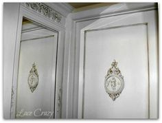 Lace Crazy: Hand Carved Victorian Door Fake~! (You too can do the same thing for a few bucks)