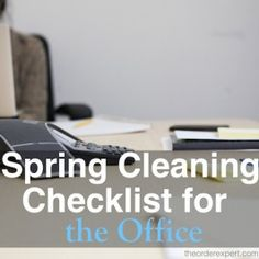 Spring Cleaning Checklist for the Office