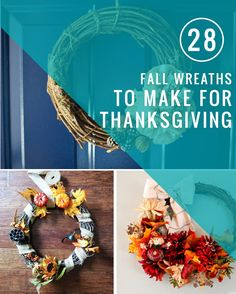28 Fall Wreaths You Can Still Make for Thanksgiving | Hello Glow
