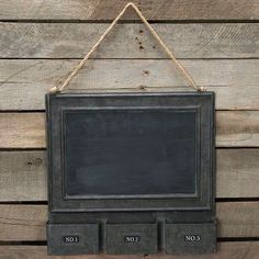 Metal Chalkboard Display
