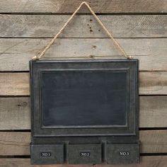 Metal Chalkboard Display