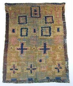 Annikki Toikka-Karvonen | Ryijy: The Rug | peiteryijy: flocked geometric tapestry | wool | Sirelius, Finland