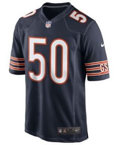 Nike Men's Mike Singletary Chicago Bears Retired Game Jersey - Blue XL