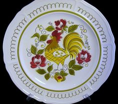 """Mikasa Heritage Retro Rooster 12"""" Terra Stone Chop Plate: Something to Crow About"""