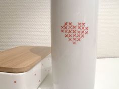 Cross stitch vase