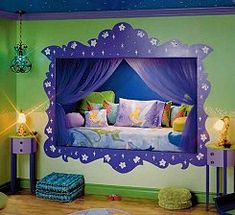 tinkerbell fairy bedroom decorating ideas, fairy tink disney fairy - funky fairy - fairytale decorating ideas - tinkerbell bedding  TinkerBell Fairyland  tinkerbell bedroom decor - Gothic Punk Pixie bedroom ideas