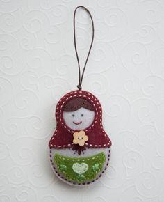 Felt babushka ornament. $14.50, via Etsy.