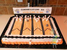 Bowling Alley Grad Cake
