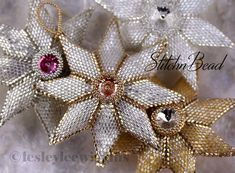 *P Big 8 Point Star beading pattern/tutorial PDF by lesleyleewiggins