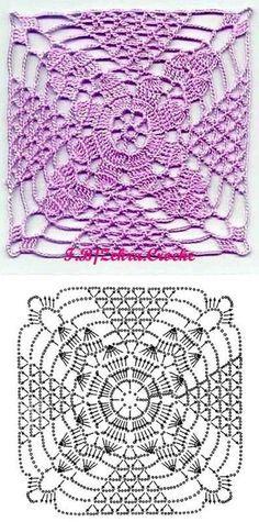 Luty Artes Crochet: Motivos de crochê com gráficos
