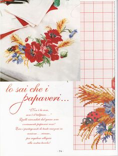 Cross Stitch Embroidery, Cross Stitch Patterns, Cross Stitch Flowers, Poppies, Needlework, Projects To Try, Crafts, Zoom Zoom, Gallery