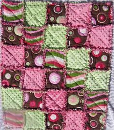 Rag quilt with Minky