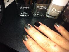 Chanel Black Satin and Graphite