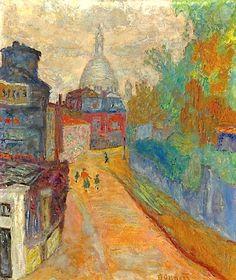 Rue À Montmartre, Le Sacré-Coeur By Pierre Bonnard