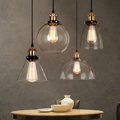 d3a19fc4fba Loft RH Vintage Pendant Lights Glass Industrial Pendant Lamps Metal Retro  Lustres Hanging Fixtures luminaire suspendu