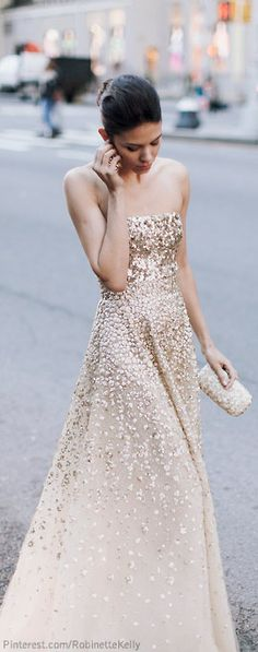 This but with straps and lower back. Glamorous Street Style | { Couture /// Runway Every Day