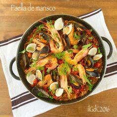 il giardino dei ciliegi: Cucina spagnola: Paella de marisco (con pesce)