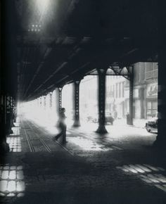 William Klein Man Under El, 1955