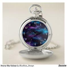 Starry Sky Galaxy Pocket Watch Galaxy Eyes, Galaxy Art, Personalized Pocket Watch, Space Jewelry, Galaxy Fashion, Galaxy Background, Magical Jewelry, Fantasy Jewelry, Cute Jewelry
