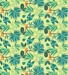 . Pattern Illustration, Pattern Design, Tropical, Behance, Textiles, Colours, Wallpaper, Floral, Prints