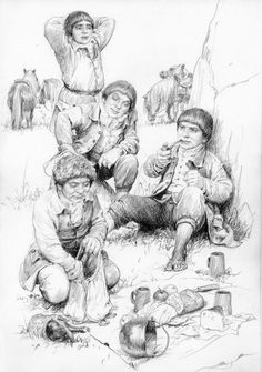 """Photo from album """"lotr"""" on Yandex. Tolkien Books, Jrr Tolkien, Blank Coloring Pages, Middle Earth, Lord Of The Rings, Lotr, The Hobbit, Illustration Art, Illustration Pictures"""