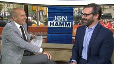 Sneaky! Jon Hamm's mid-air hijinks catches Matt Lauer off guard. Links to video.
