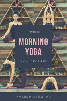 10 Minute Morning Yoga Routine You Can Do From Your Bed Wake up and energize naturally with these yoga postures. A ten minutes morning yoga flow you can do from the comforts of your own bed! 10 Minute Morning Yoga, Morning Yoga Flow, Morning Yoga Routine, Morning Morning, Yoga Routines, Morning Yoga Sequences, Wake Up Yoga, Morning Stretches, Early Morning