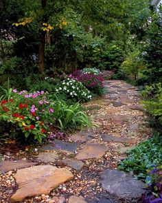 Beautiful Pebble Garden Paths To Get Inspired
