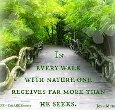 Walk with nature quote via www.Facebook.com/KnowYouAreEnough